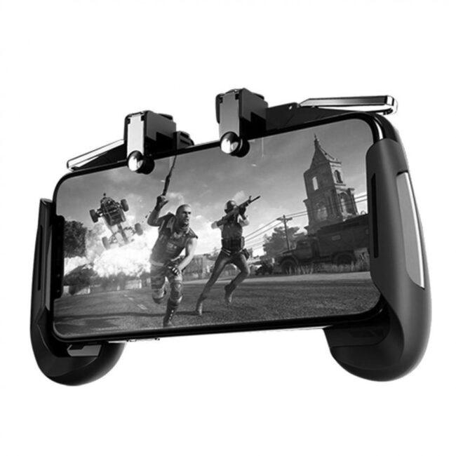 دسته بازی pubg مدل AK 16 مناسب برای گوشی موبایل به همراه مبدل OTG microUSB ریمکس
